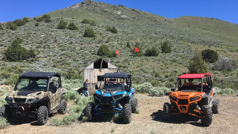 Polaris Ranger, RZR in Nevada desert