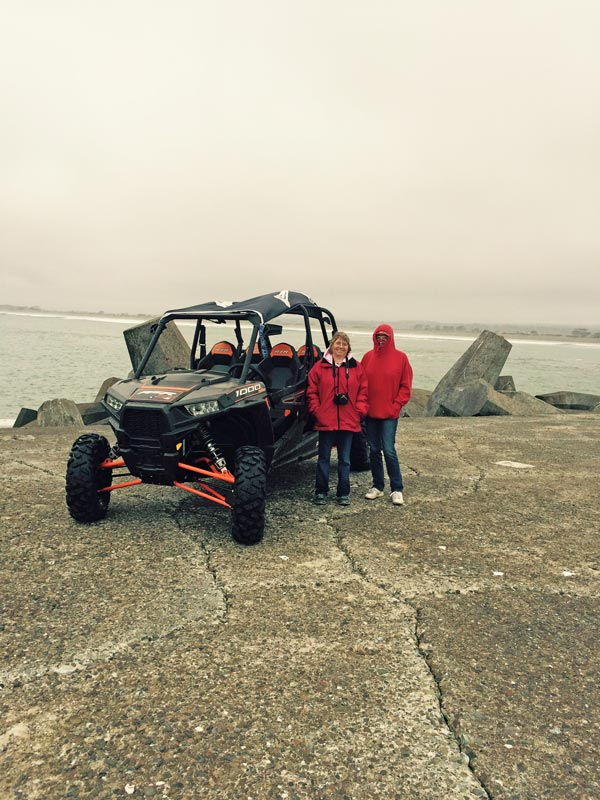 Polaris RZR XP 1000 at the ocean