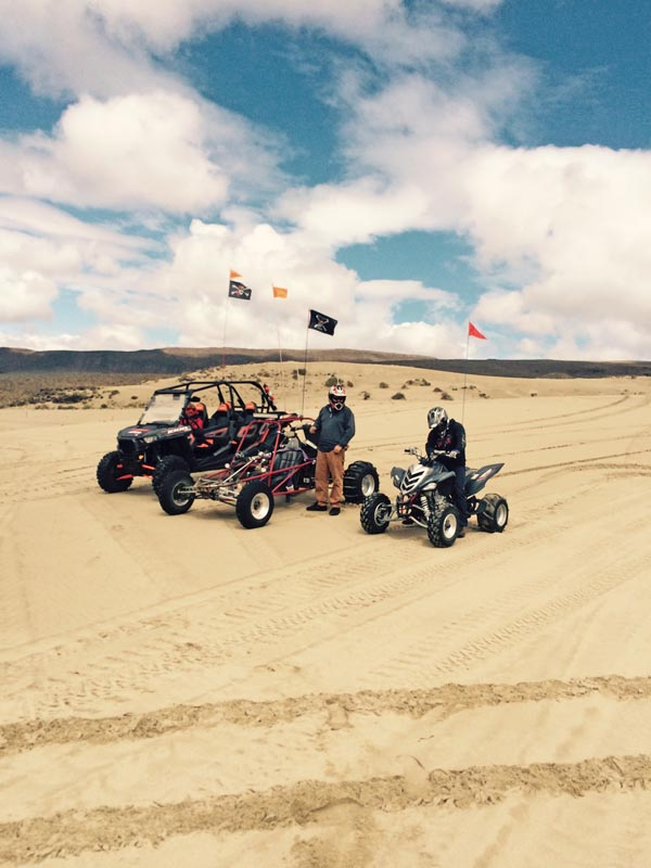 Polaris RZR, sand rail and Yamaha Raptor at Sand Mountain NV