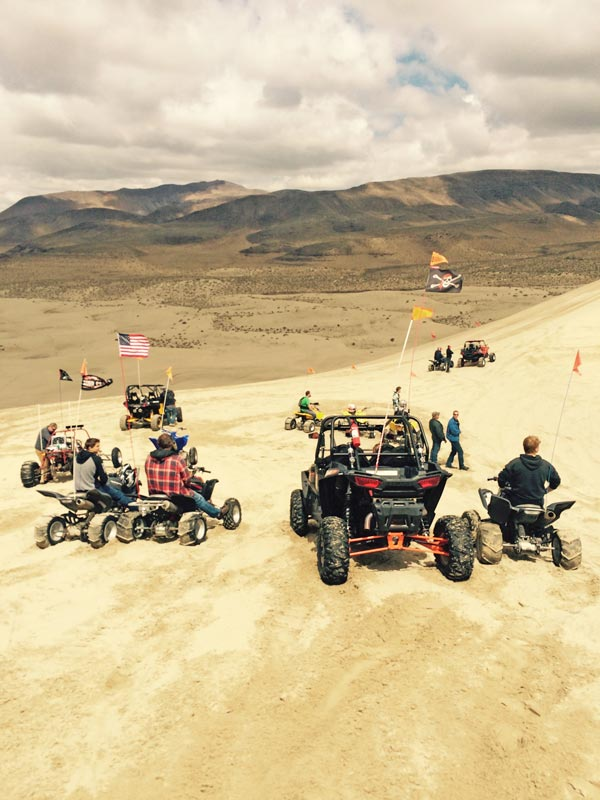 RZR, Raptors and sand rail at Sand Mountain NV