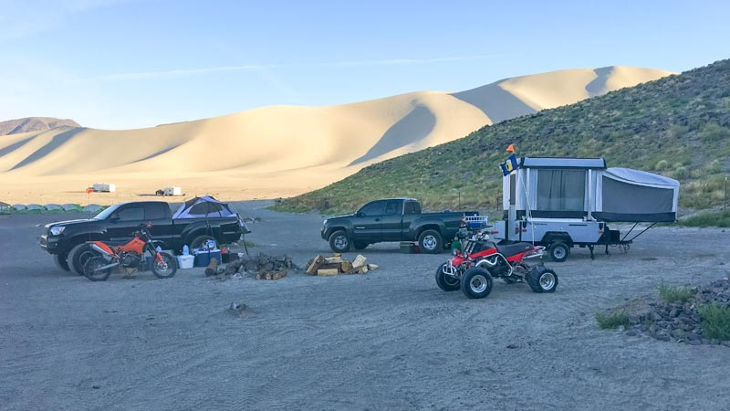 Camping at Sand Mountain NV