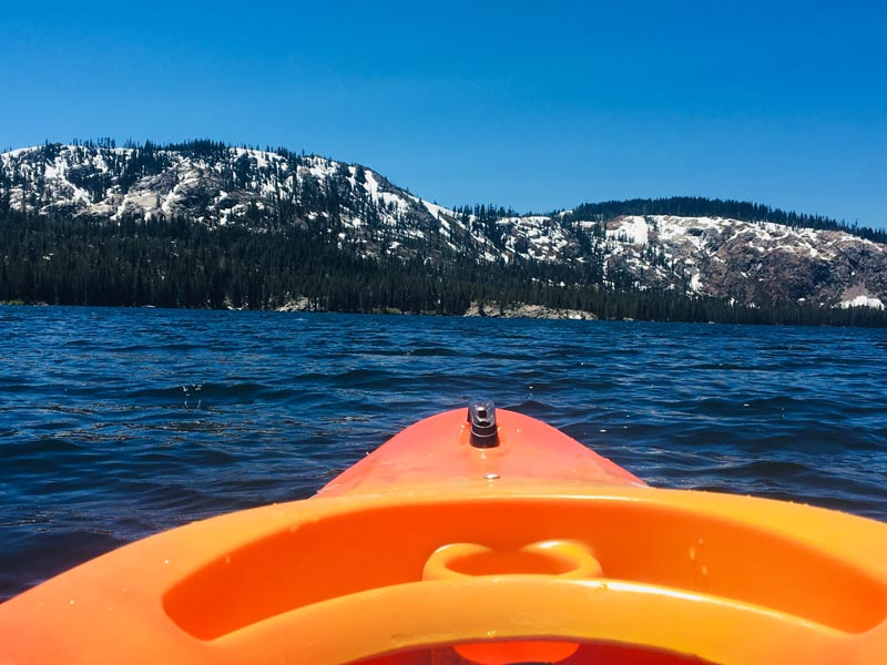 Kayaking at Lakes Basin, CA