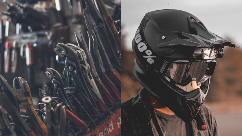 tools and utv helmet