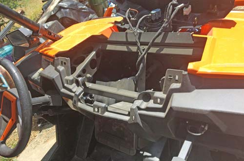 rzr hood and dash removed