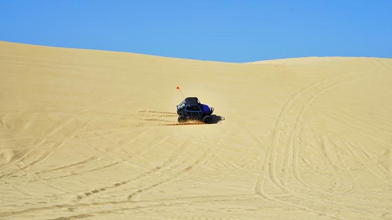 RZR UTV sidehill dunes